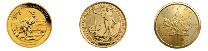Gold coins from Global Gold