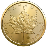 Canadian Gold Maple Leaf 1 oz Gold Coin