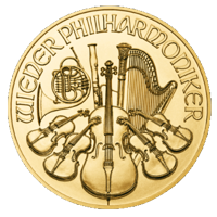 Vienna Philharmonic 1 oz Gold Coin