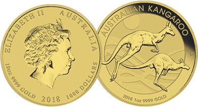 Gold Australian Kangaroo 1 Ounce