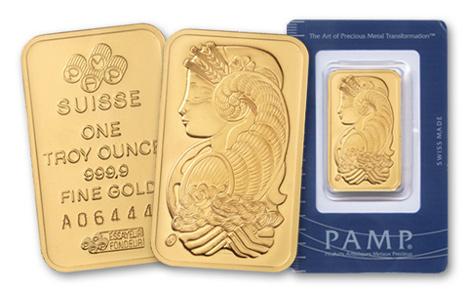 Pamp Suisse 1-oz Gold Bar